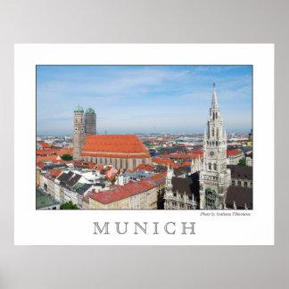 Poster Affiche de Munich, Allemagne
