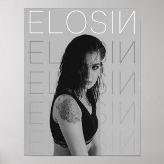 Poster affiche de mur de 11x14 B&W ELOSIN