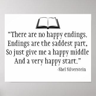 Poster Affiche de mur de citation de Shel Silverstein