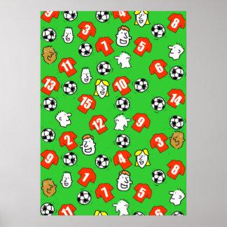 Poster Affiche de mur de conception du football avec les