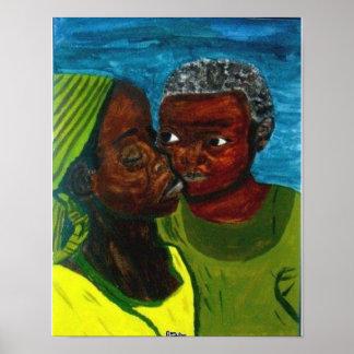 """Poster """"Affiche de mur d'un amour de mère"""""""