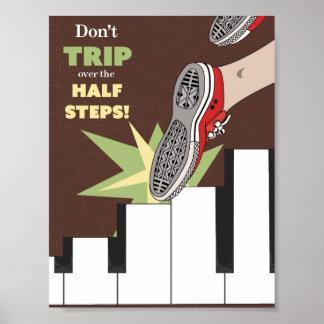 Poster Affiche de musique de demi d'étapes