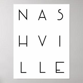 Poster Affiche de Nashville