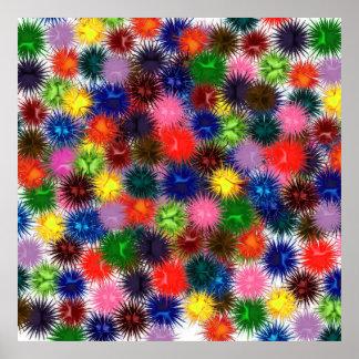 Poster Affiche de Paintballs de fractale