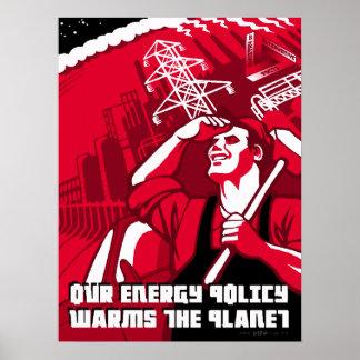 Poster Affiche de parodie de propagande de réchauffement