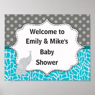 Poster Affiche de partie de signe bienvenu de baby shower