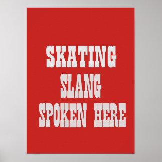 Poster Affiche de patinage d'argot