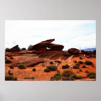 Poster Affiche de paysage de l'Arizona