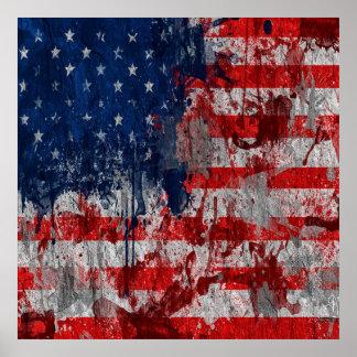 Poster Affiche de peinture des Etats-Unis