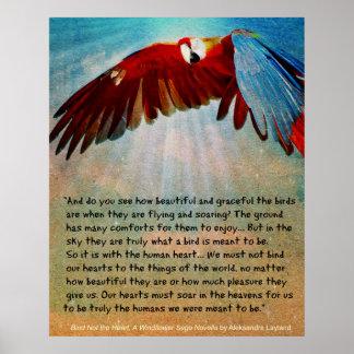 """Poster Affiche de perroquet avec la citation du """"grippage"""