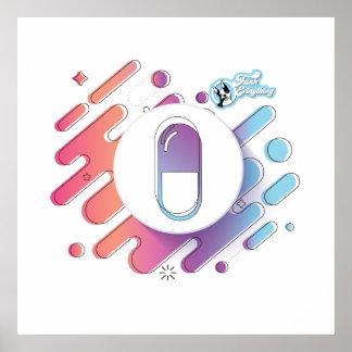 Poster Affiche de pilule de gradient