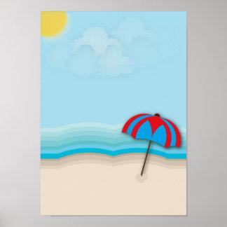 Poster Affiche de plage