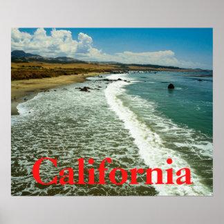 Poster Affiche de plage de la Californie