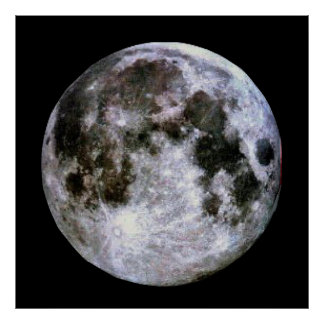 Poster Affiche de pleine lune