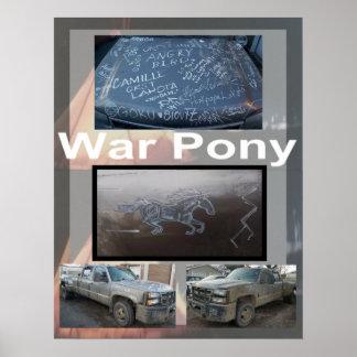 Poster Affiche de poney de guerre la grande