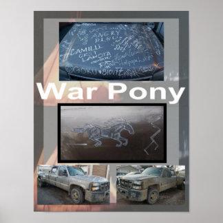 Poster Affiche de poney de guerre petite