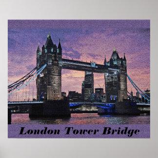 Poster Affiche de pont de tour de Londres