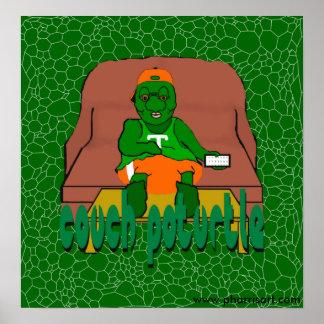 Poster Affiche de Poturtle de divan