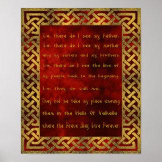 Poster Affiche de prière de Viking