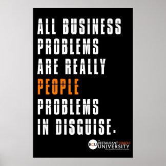 Poster Affiche de problèmes commerciaux de RCU