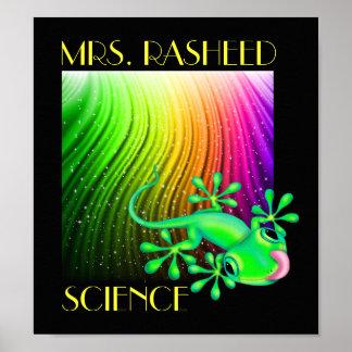 Poster Affiche de professeur