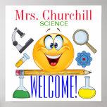 Poster Affiche de professeur de Sciences - SRF