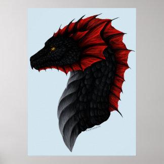 Poster Affiche de profil de dragon d'Alavon