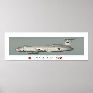 Poster Affiche de profil de Martin XB-51