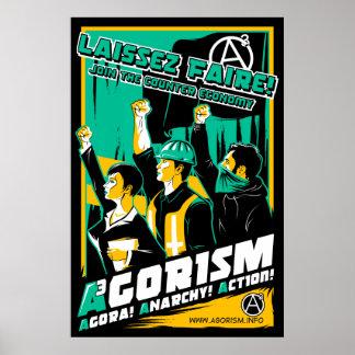 Poster Affiche de propagande d'Agorism