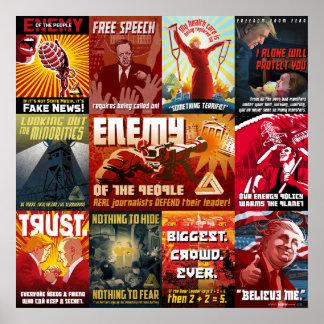 Poster Affiche de propagande d'atout, 11 in-1