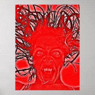 Poster Affiche de rage