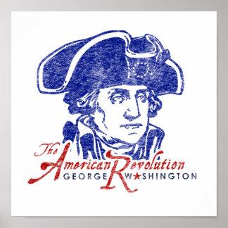 Poster Affiche de révolution américaine de George