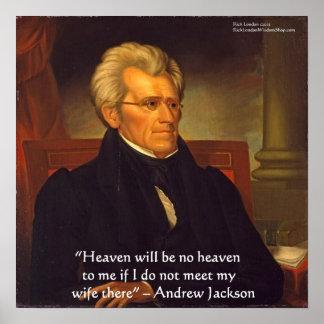 Poster Affiche de sagesse de ciel d'Andrew Jackson la