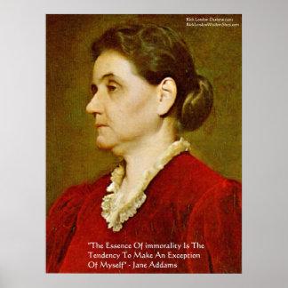 Poster Affiche de sagesse exclut individu de Jane Addams
