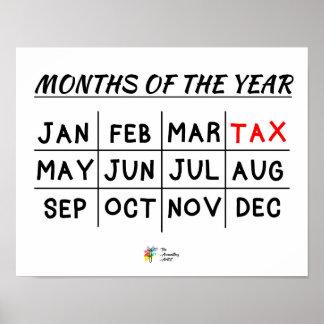 Poster Affiche de saison d'impôts pour le comptable