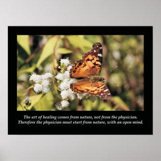 Poster Affiche de santé de citations et d'énonciations de