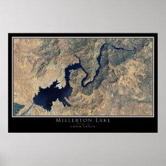 Poster Affiche de satellite de la Californie de lac
