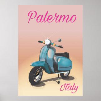 Poster Affiche de scooter de Palerme Italie