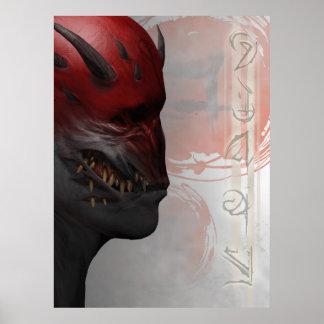 Poster Affiche de Semi-Lustre de Trigash