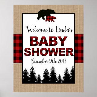 Poster Affiche de signe bienvenu de baby shower de