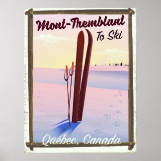 Poster Affiche de ski de Mont-Tremblant Québec