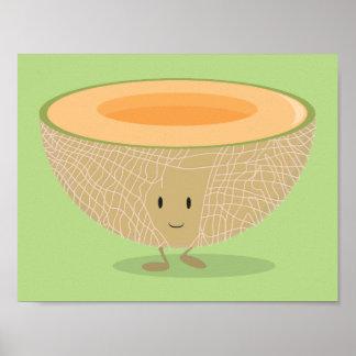 Poster Affiche de sourire du cantaloup |
