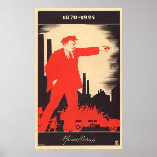 Poster Affiche de Soviétique de Lénine