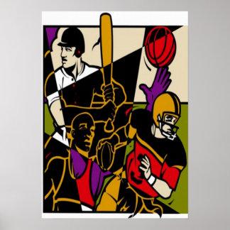 Poster Affiche de sports