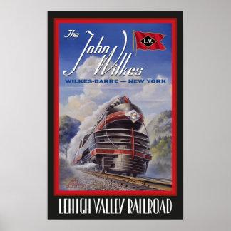 Poster Affiche de Streamliner de vallée de Lehigh
