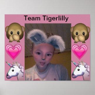 Poster Affiche de Tigerlilly d'équipe
