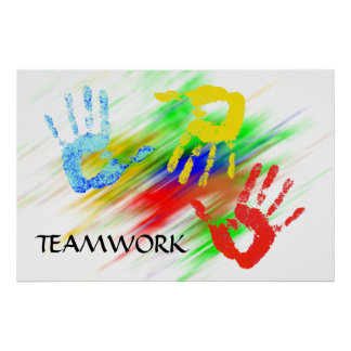 Poster Affiche de travail d'équipe