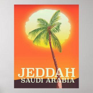 Poster Affiche de vacances de Jeddah Arabie Saoudite