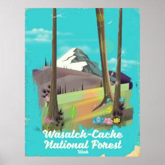 Poster Affiche de vacances de l'Utah de réserve