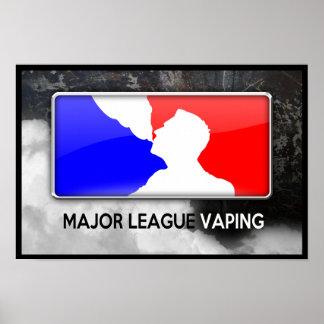 Poster Affiche de Vaping de ligue